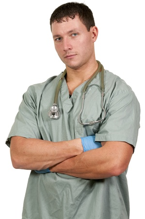 Man doctor standing with his arms folded Stock Photo - 16717509