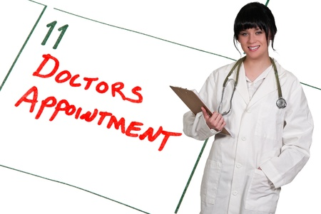 Doctor and calendar reminder for a Doctors Appointment Stock Photo - 16717685