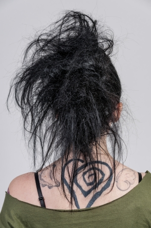 tatt: The back of a head of a beautiful young woman