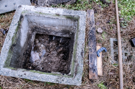 Septic tank in desperate need of emptying photo