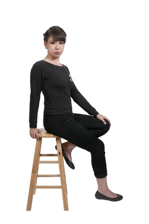 vedette de cin�ma: Belle jeune femme mod?lisation attrayant star de cin?ma la pose Banque d'images