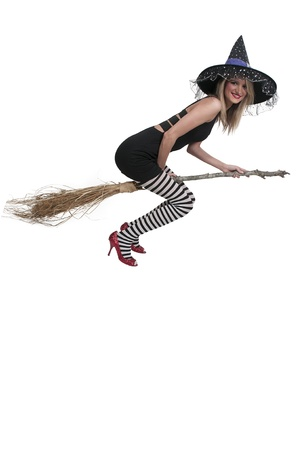 Beautiful woman wicked witch with ruby shoes photo