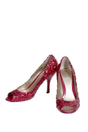 高いヒールの stileto ルビーの靴またはスリッパ 写真素材