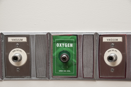 An oxygen outlet on the wall of a patient room in a hospital Reklamní fotografie