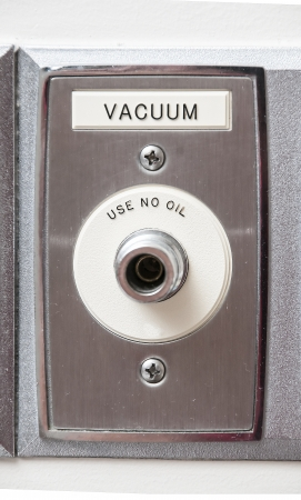 vaccuum: A vaccuum intake in a patient room of a hospital Stock Photo