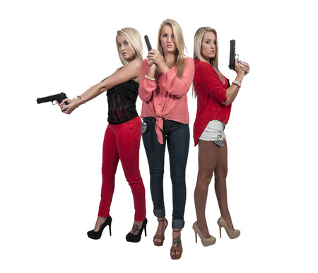 narc: Beautiful police detective women on the job with guns