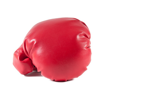match box: Boxing glove waiting for a fighter and a boxing match