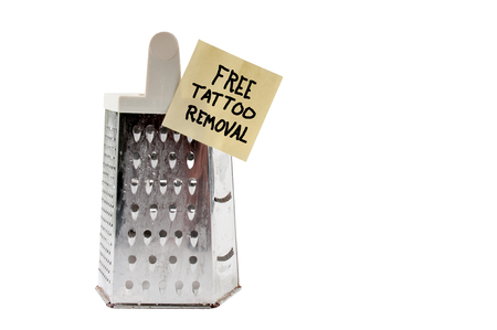 grater: Free cheese grater tattoo removerfor the brave Stock Photo