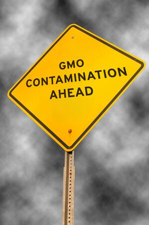 roadsign: Roadsign warning that there is GMO contamination ahead