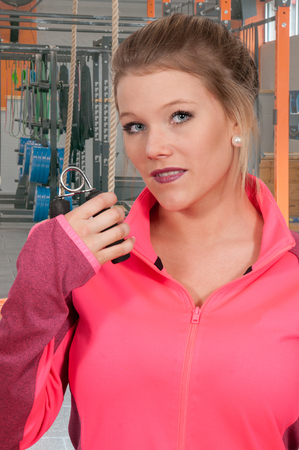 hand gripper: Occupational Therapy Exercising with a hand gripper Stock Photo