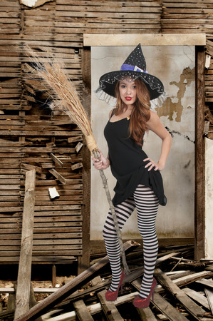 wicked woman: Beautiful woman wicked witch with ruby shoes