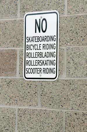 rollerskating: No Skateboarding Bicycle Riding Rollerblading Rollerskating Scooter Riding sign