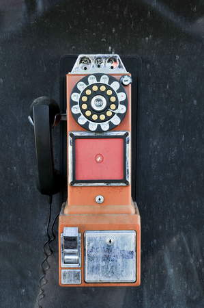 Payphone used by folks in the days pror to cell phones. Banco de Imagens