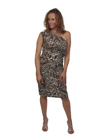 若いセクシーな美人ドレスとハイヒールのポーズで 写真素材