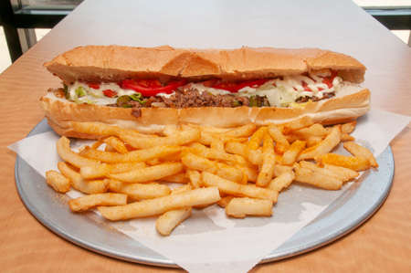 Philly Cheesesteak and an order of French Fries