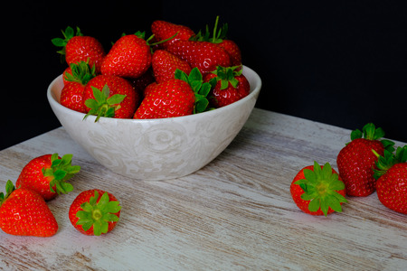 In this photo you can see some delicious and fresh strawberries of an intense red color. This photo was taken in April 2019 Reklamní fotografie
