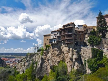 casas adosadas t�picas de la ciudad de Cuenca, Espa�a