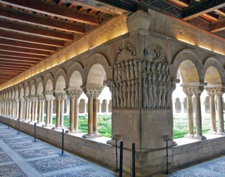 Kreuzgang des Monasterio de Santo Domingo de Silos, Burgos, Spanien Standard-Bild - 16485293