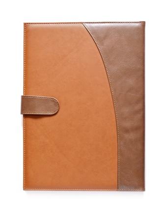leather case notebook isolated on white background Stock Photo - 16514966