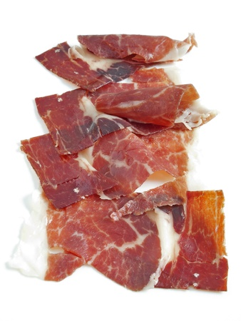 portions of ham iberian typical of Spain