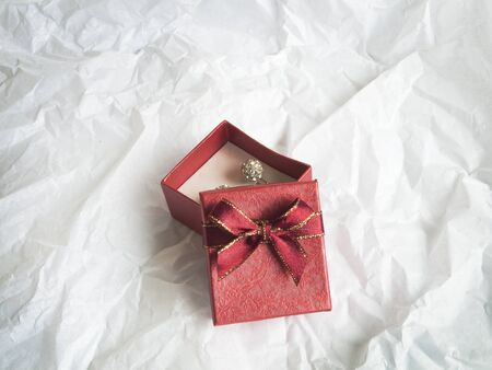 red gift box on abstract white background Stock Photo - 16514947