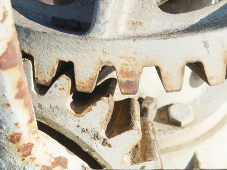Abstract toothed gears and rusty iron Stock Photo - 16578407