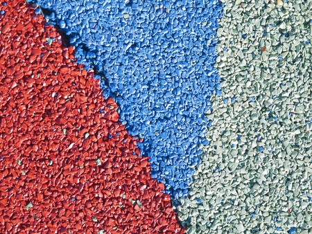 rubber particles of soil textures