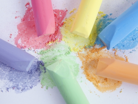 colored chalk painting on white background Stock Photo - 16626380