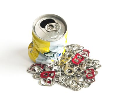 Pieces of can to recycle for good environment  photo