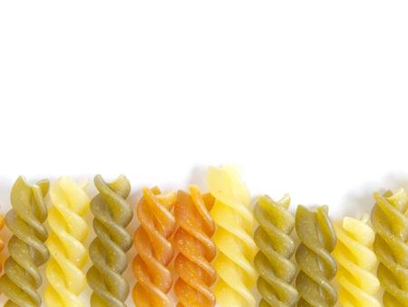 Color pasta fusilli Foto de archivo - 16959637