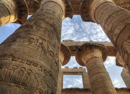 Columns in Karnak Temple (Luxor, Egypt)