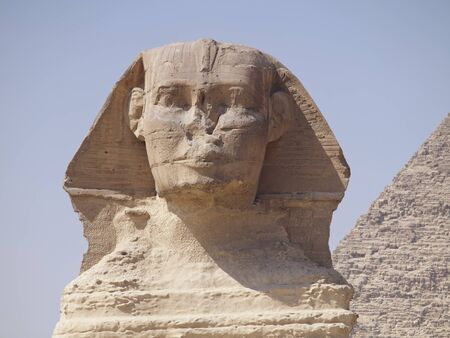 The Sphinx and the Great Pyramid of Giza in Egypt photo
