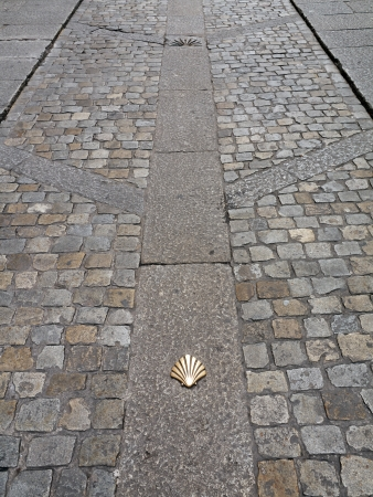 Symbol of the camino de santiago as it passes through burgos, Spain