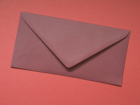 Red open flap paper envelope Stock Photo - 17222092