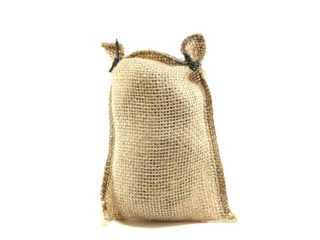 Hessian sack isolated against white background  免版税图像