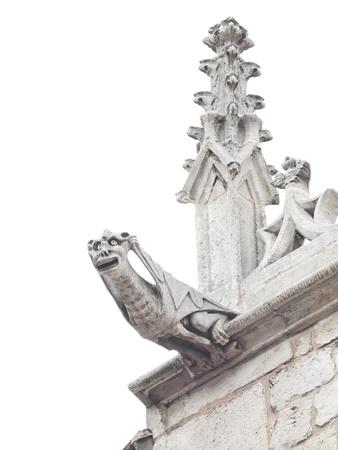 Gothic gargoyle cordon house in Burgos, Spain