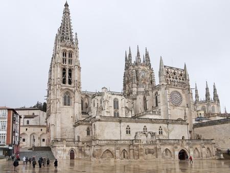 cara leon: Gothic C�pula de la Catedral de Burgos, Burgos, Castilla y Le�n Espa�a Foto de archivo