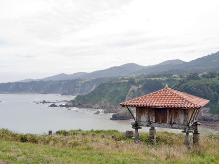 cantabrian: granary in the maritime coast of Asturias, Spain