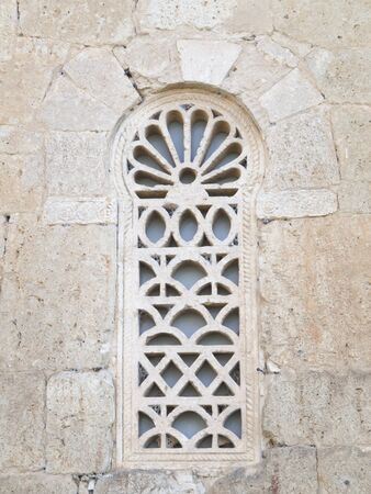 palencia province: VisigotDetails window Visigothic church of St  John of bays in the province of Palencia, Spain
