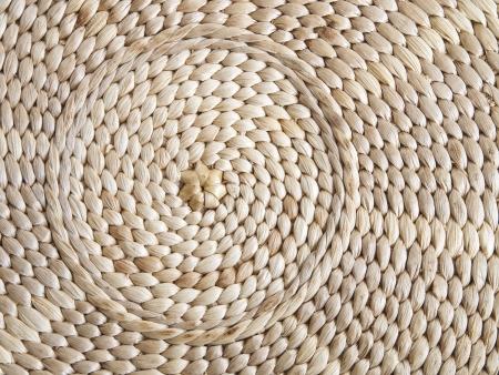esparto textuur met ronde ambachtelijke Stockfoto