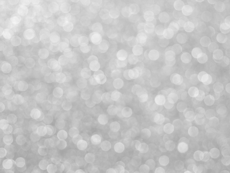abstract blurred Christmas lights silver