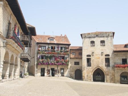 Streets typical of old village of Santillana del Mar, Spain