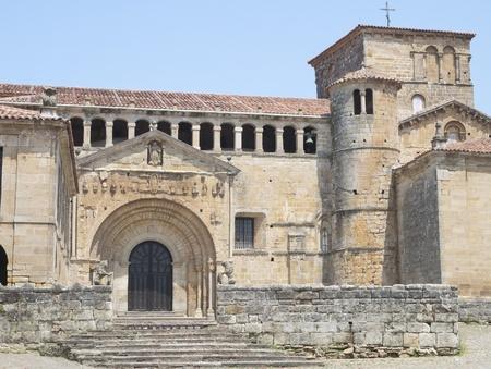 stone of destiny: Collegiate church of Santa Juliana, Santillana del Mar, Cantabria, Spain  Stock Photo
