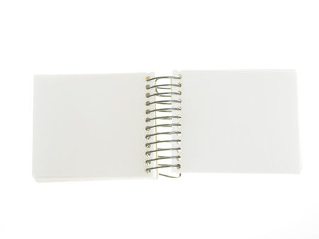 recycle paper note book on white background photo