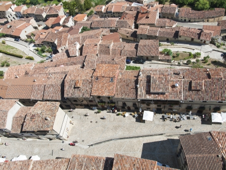Panoramic frias medieval town of Burgos province, Spain