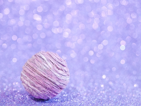 purple abstract ball with blurred background