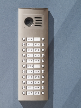 Video intercom in the entry of a house 免版税图像