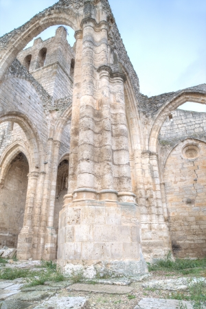 palencia province: Gothic ruins of the village church of Palenzuela in the province of Palencia, Spain