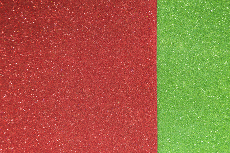 Christmas background of red and green defocused lights photo