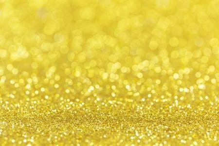 Twinkly gouden Lights Kerst Achtergrond Stockfoto